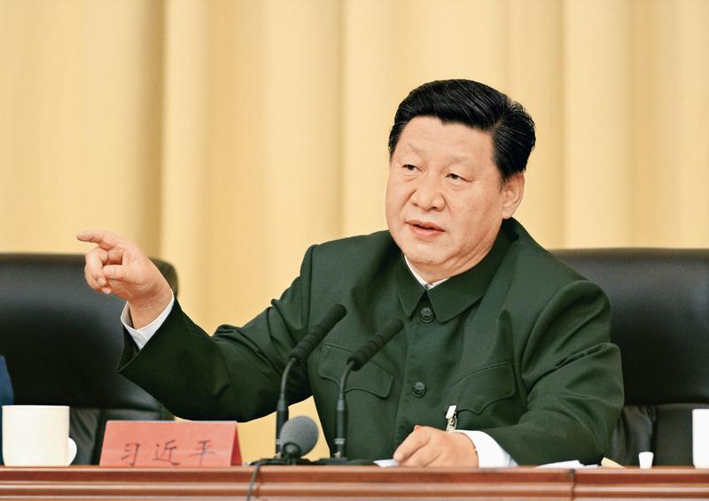 2014年10月30日,全军政治工作会议在福建省上杭县古田镇召开。这是10月31日,中共中央总书记、国家主席、中央军委主席习近平出席会议并发表重要讲话。 新华社记者 李刚/摄