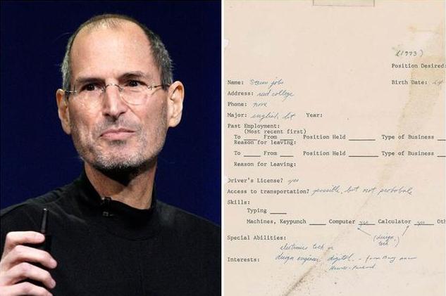 乔布斯1973年手写求职信第四次拍卖以34.3万美元成交