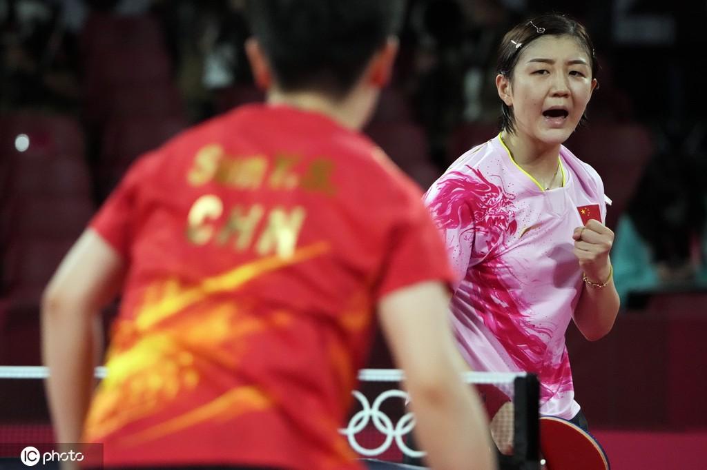 第15金!中国乒乓球收获1金1银 陈梦夺冠孙颖莎亚军