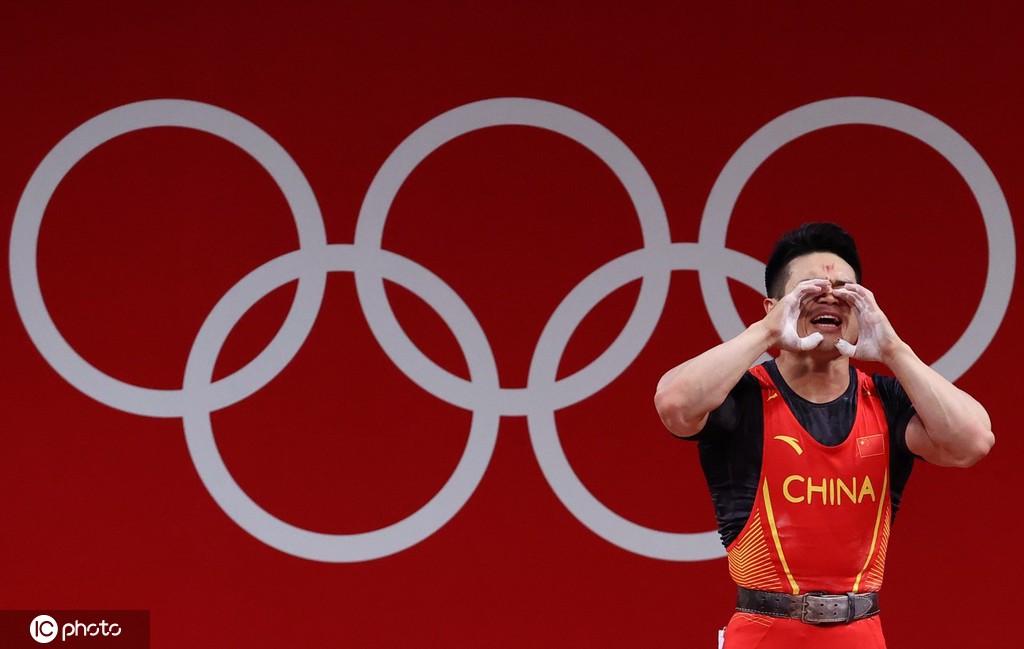 第12金!石智勇打破世界纪录 为中国举重夺第4金