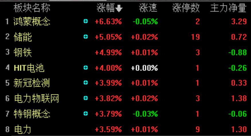 两市震荡整理:沪指跌0.42% 储能板块全天大涨