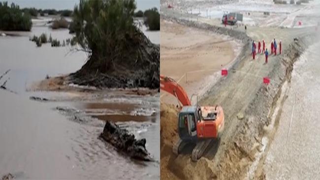 塔克拉玛干沙漠变汪洋 300多平方公里被淹没