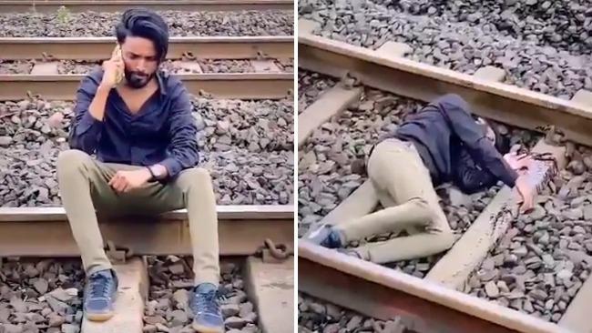 印度网红为涨粉拍卧轨自杀视频 被警方逮捕