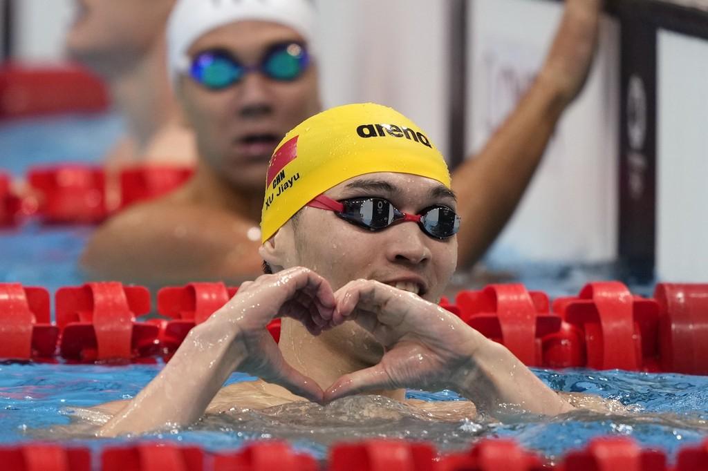 徐嘉余游出个人最好成绩 总排名第3晋级半决赛