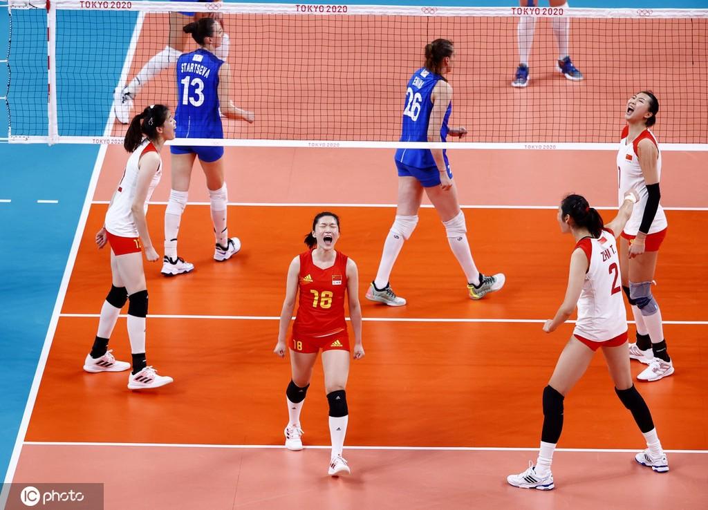 中国女排在比赛中