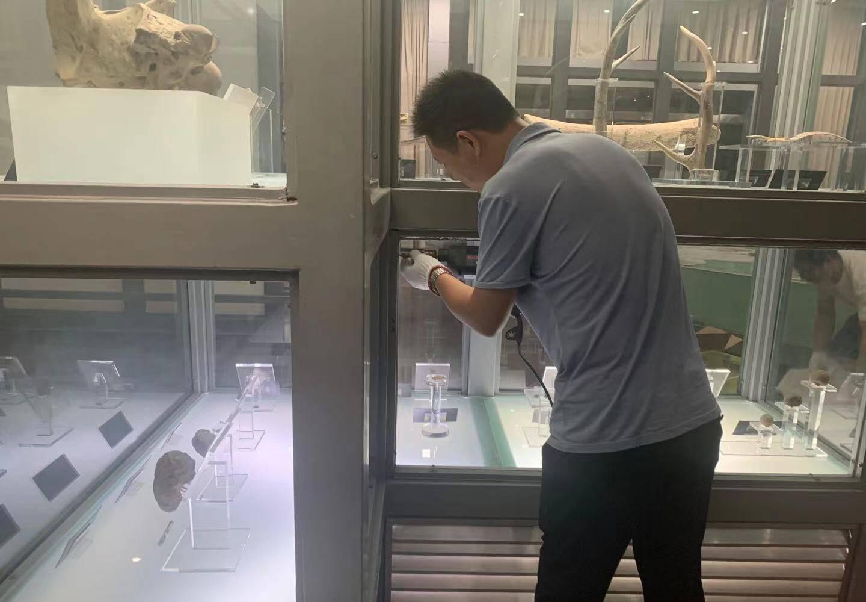 博物馆内正有序撤展相关文物工作。@余姚文化旅游 图