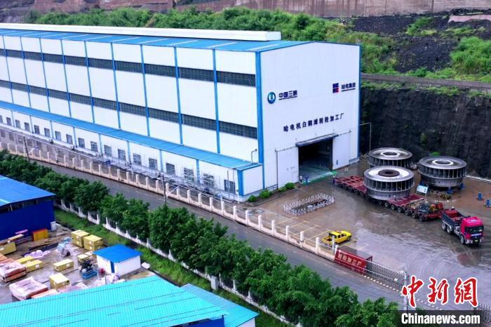 哈电电机驻白鹤滩水电站转轮加工厂 张弘 摄