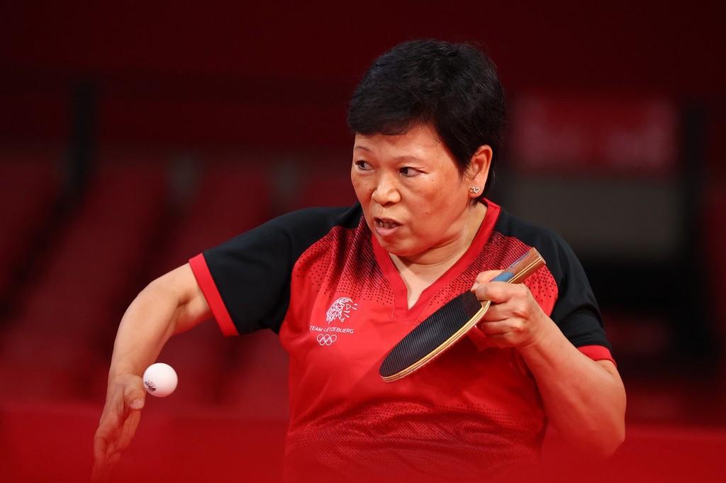 卢森堡乒乓球选手倪夏莲,1963年出生于上海,本届乒乓最大年龄选手。