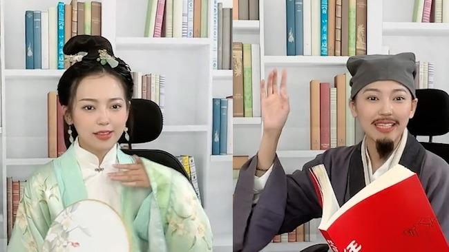 美女老师玩起变装 COS李白杜甫沉浸式教学