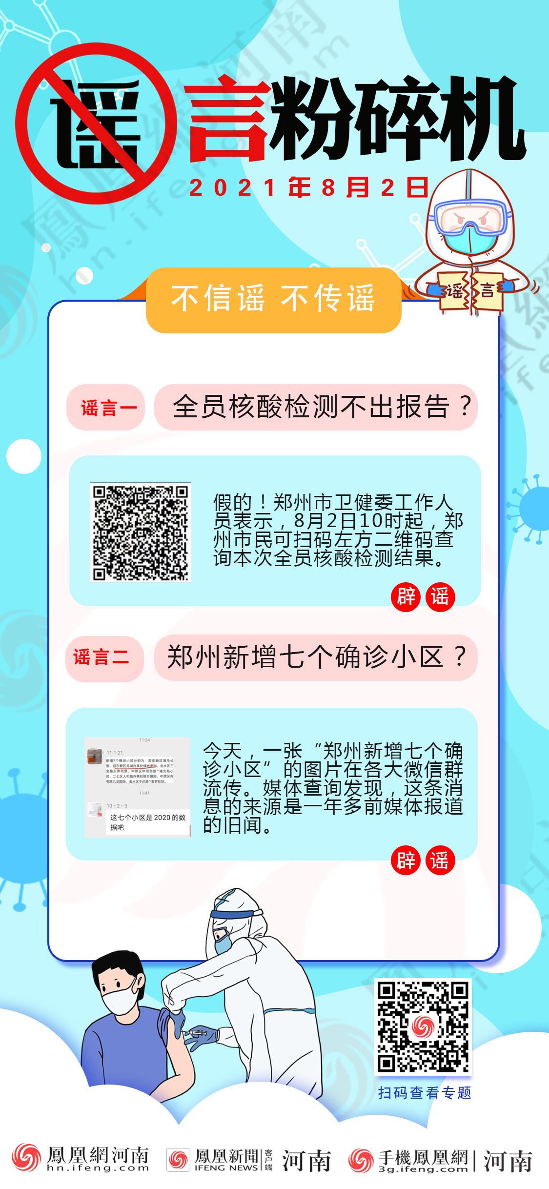 谣言粉碎机:郑州新增七个确诊小区?全员核酸不出报告?假