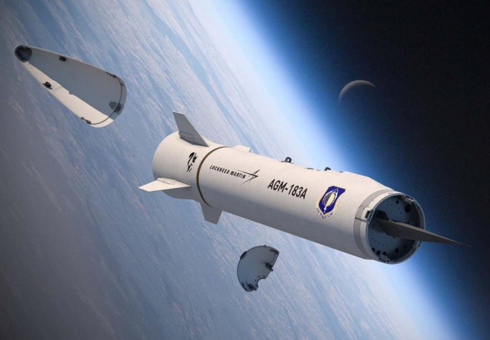 AGM-183A导弹采用助推器+楔形滑翔弹头的方案。