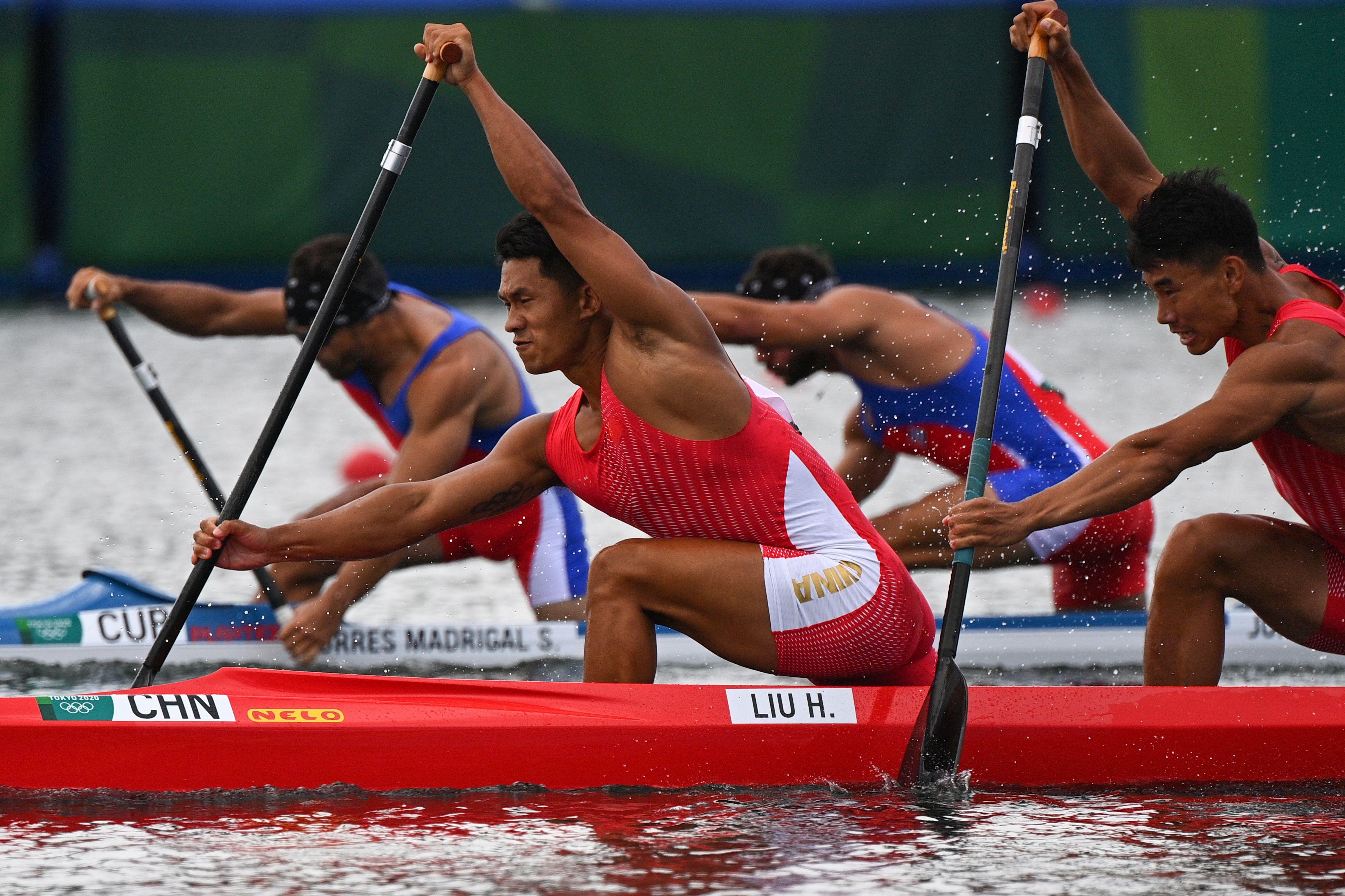 最后时刻遗憾被反超 刘浩/郑鹏飞拿下双人划皮划艇银牌
