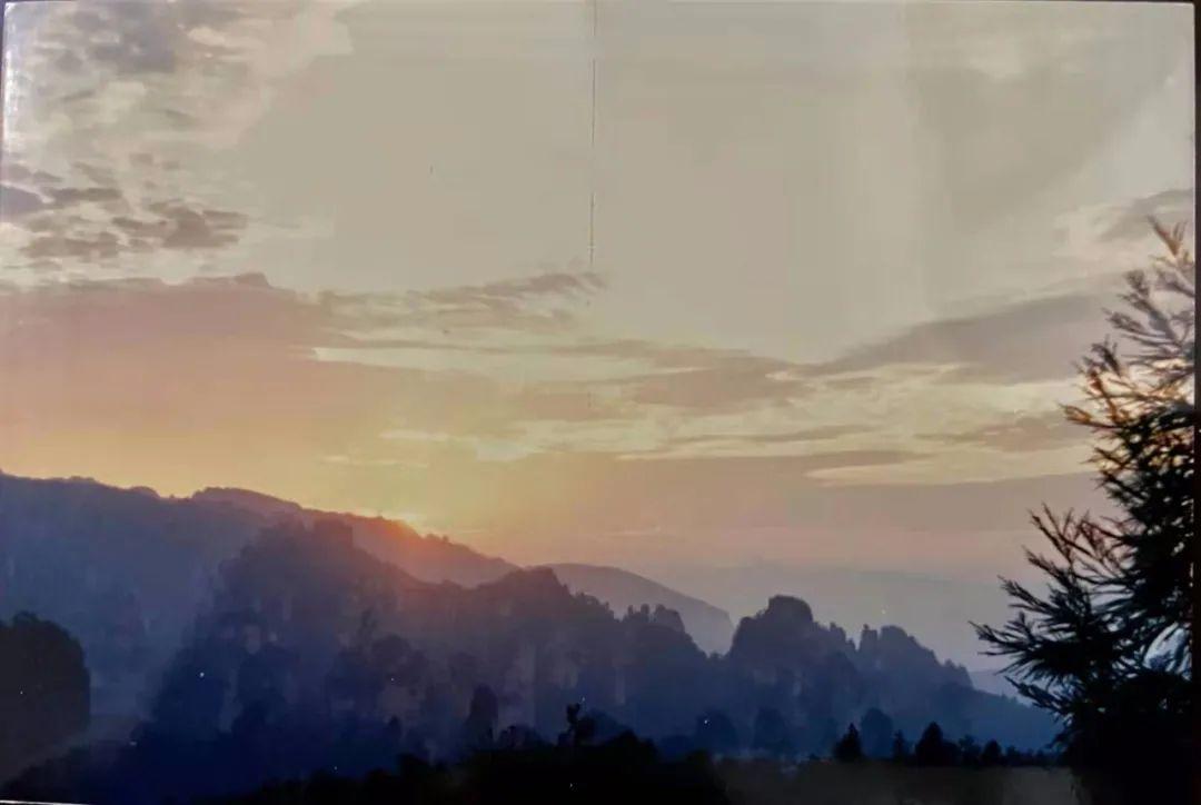 △ 1989年的张家界天门山日出。供图/三姨