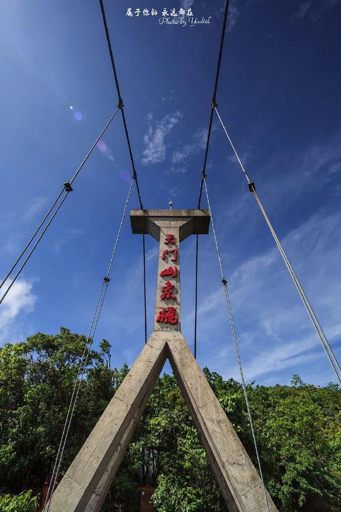 △ 位于山顶的一小段索桥供图/摄影师 颜描锦