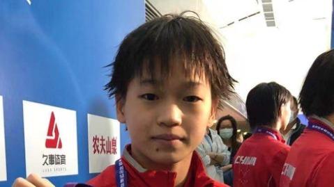 14岁130天!中国历史上第2年轻奥运冠军诞生 拿金牌给妈妈治病