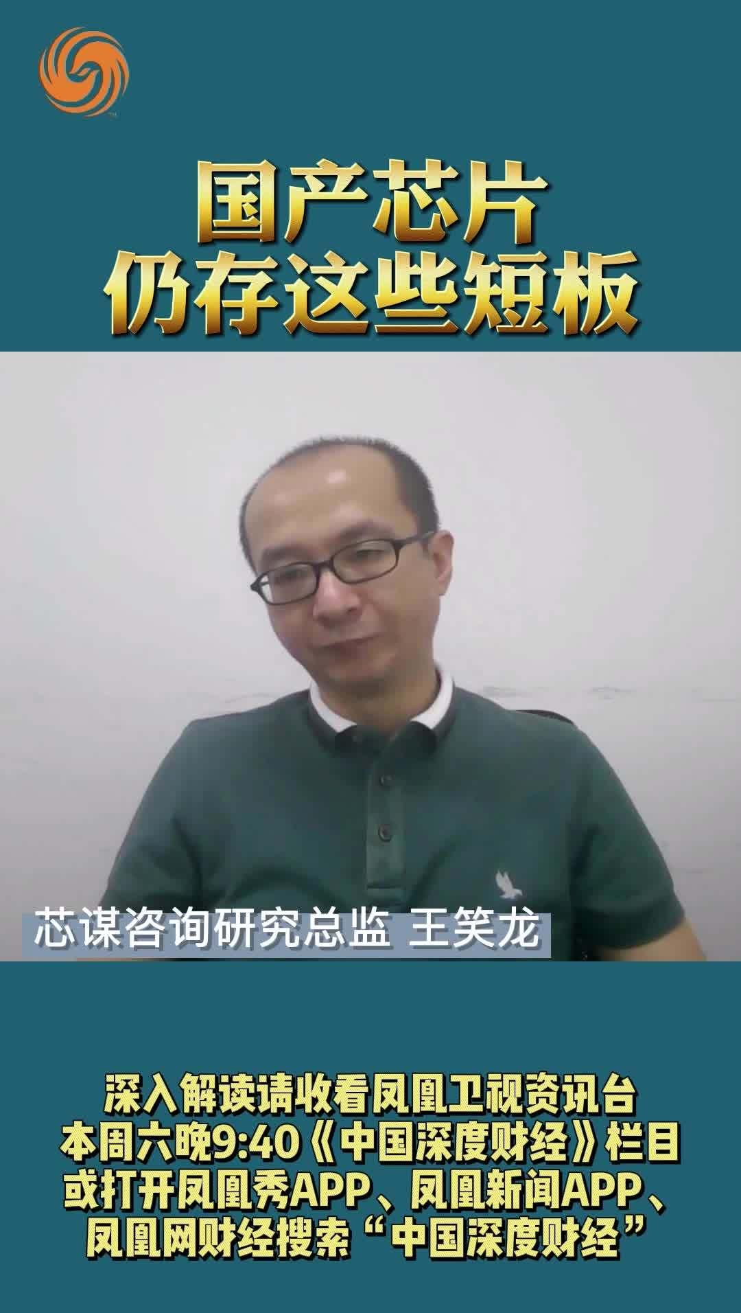 王笑龙:国产芯片仍存这些短板