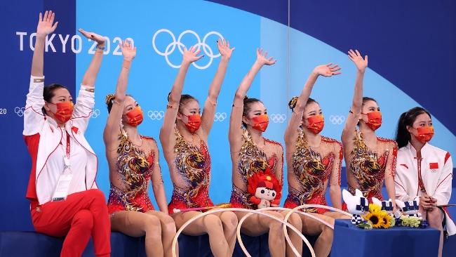 中国艺术体操集体全能第4 创境外奥运最好名次