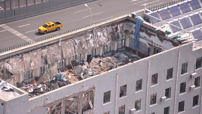 哈尔滨办公楼楼顶坍塌搜救结束 事故致4死7伤