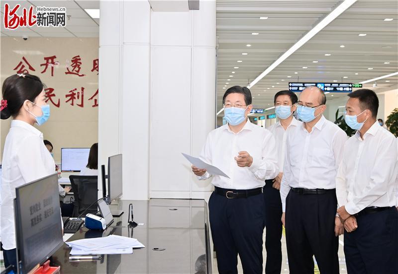 王东峰在承德市调研检查