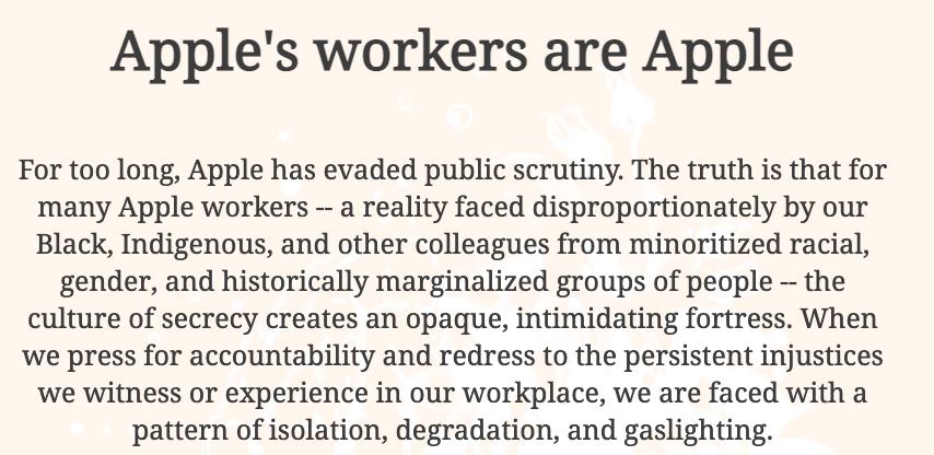 """蘋果員工成立的網站""""AppleToo"""""""