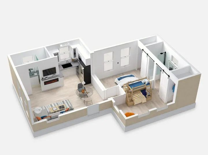 两居室的 Casita 房屋. 图片来自:Business Insider