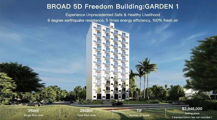 Broad 的 10 层预制房屋效果图. 图片来自:Treehugger