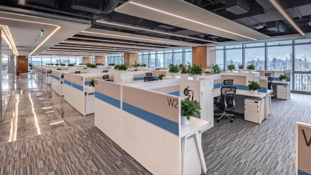 荣耀新全球总部办公室内景