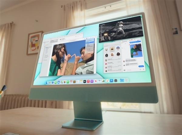 顶配1.3万元!苹果发布崭新24英寸iMac:自立M1、更薄更众彩