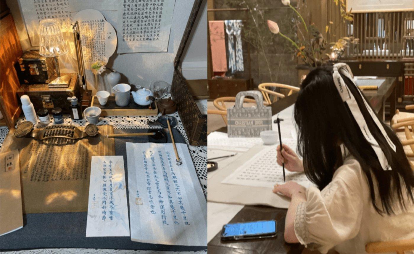 图中有LV盒子、迪奥包和香奈儿的发带 图源 / 小红书