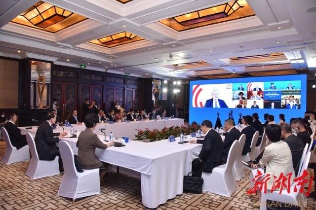 (9月14日下午,博鳌亚洲论坛经济发展与安全高级别研讨会在北京举行。)