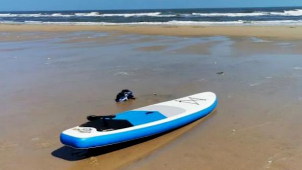 男子入海口冲浪失联 岸边只剩冲浪板