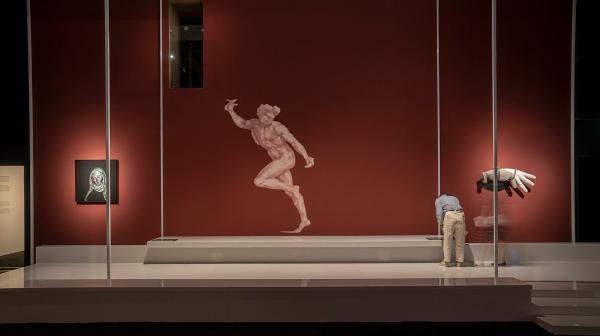 """""""意大利文艺复兴纸上绘画:一次与中国的对话""""展览现场,木木美术馆(钱粮胡同馆),北京,2021 摄影:木木美术馆视频团队"""