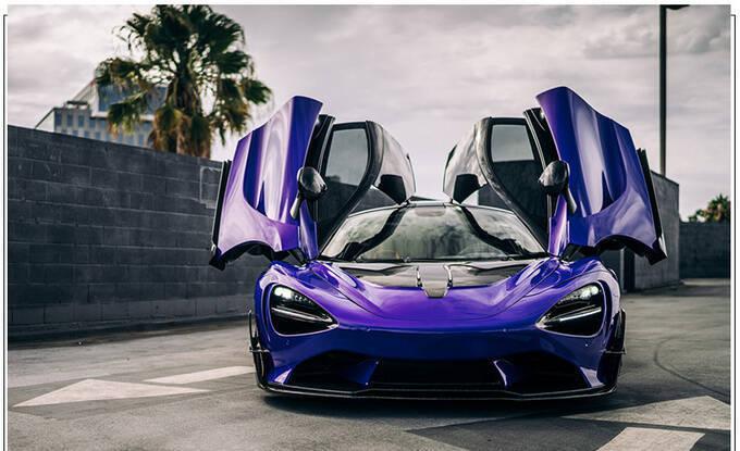 迈凯伦720S全新改装版紫色涂装大量碳纤维配件-图2