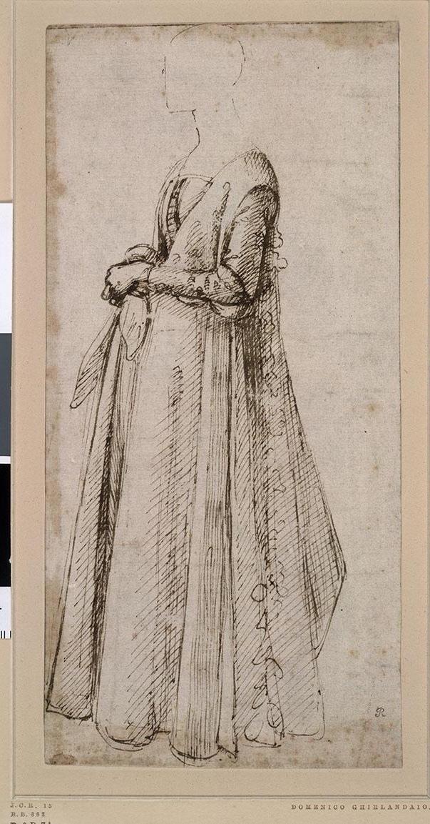 多梅尼科·基兰达约(1449至1494年)的画作《托纳波尼家族女子像》(约1485年)