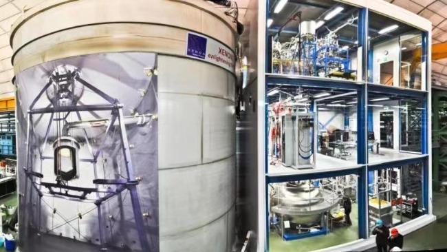 图:暗物质探测装置XENON1T