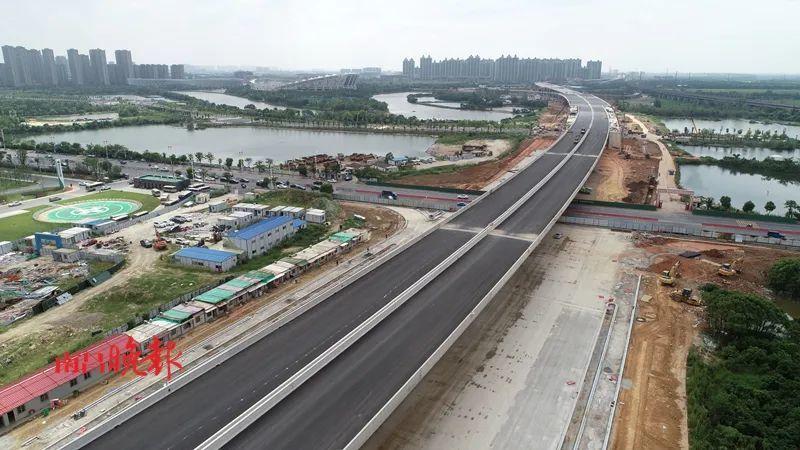南昌县桃新大道快速路预计将在国庆前实现主线通车