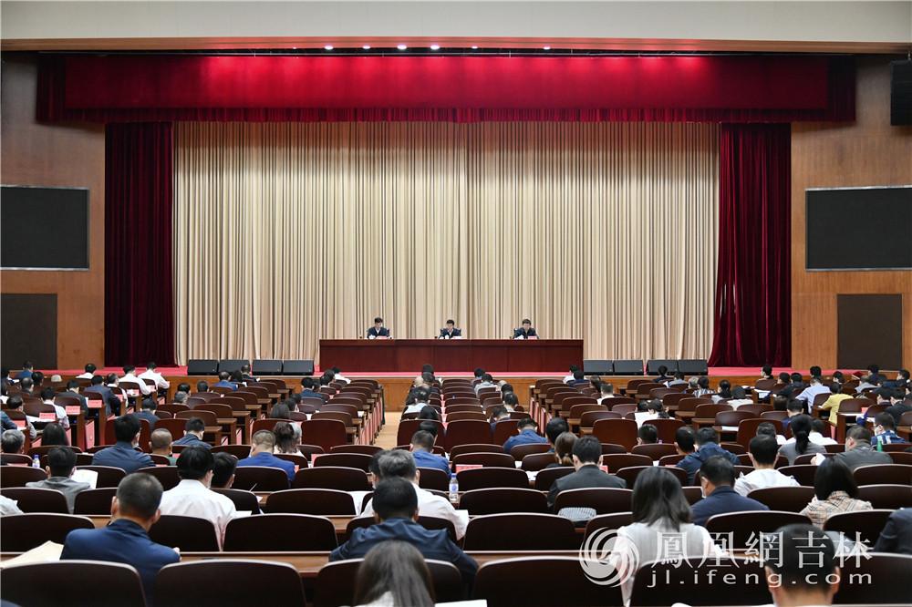 第十三届中国—东北亚博览会执委会第二次全体会议暨接待工作会议现场。梁琪佳摄