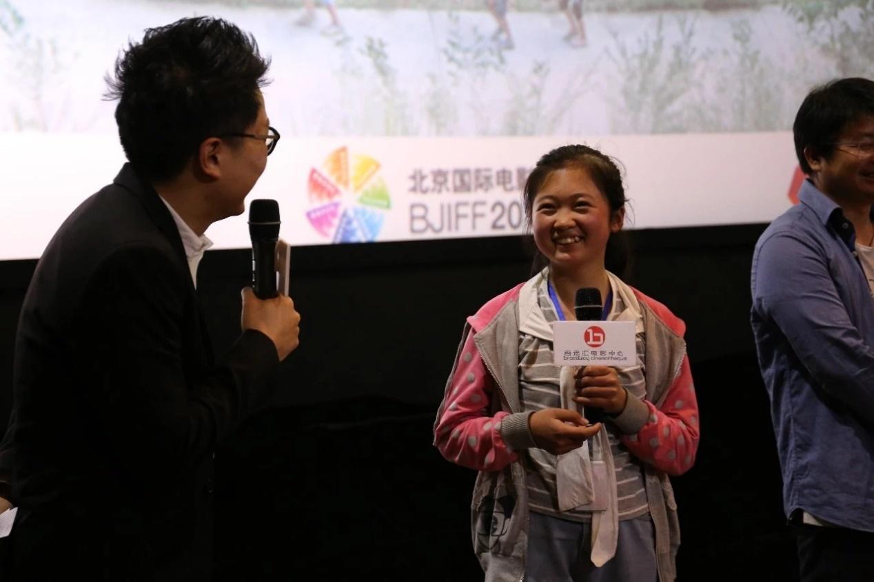 《矮婆》在2018年北京国际电影节首映后的主创交流会。那是云洁第一次坐飞机,第一次去到北京,第一次在大银幕前看电影。她看了一场自己主演的电影。
