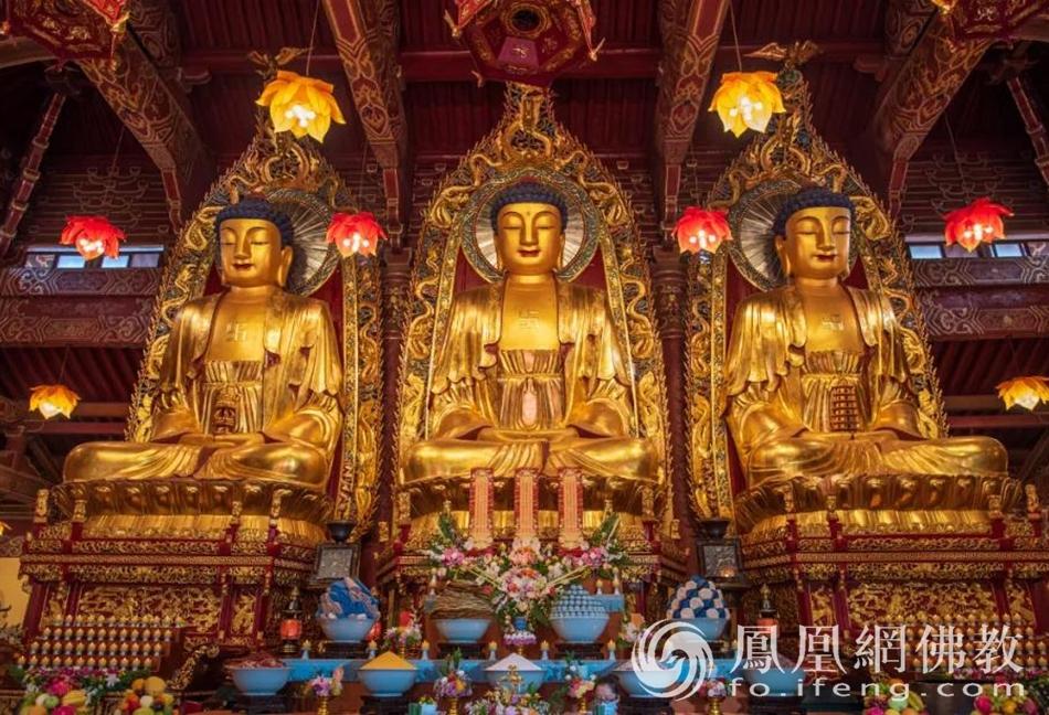 庐山东林寺大雄宝殿(图片来源:凤凰网佛教)