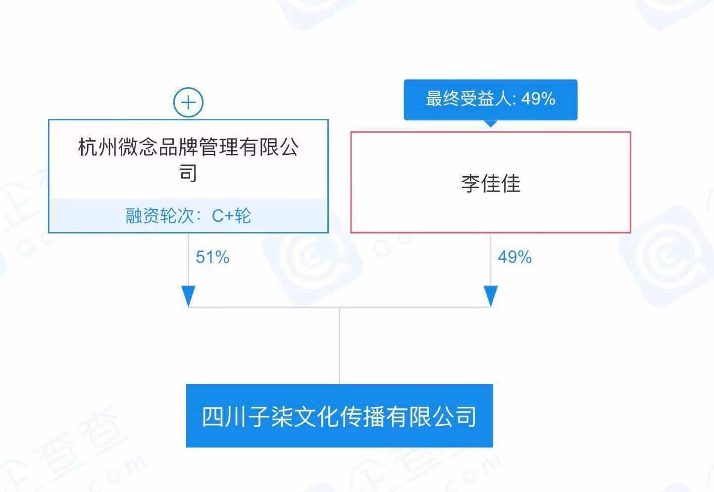 (图:李子柒与旗下公司的股权关系。)