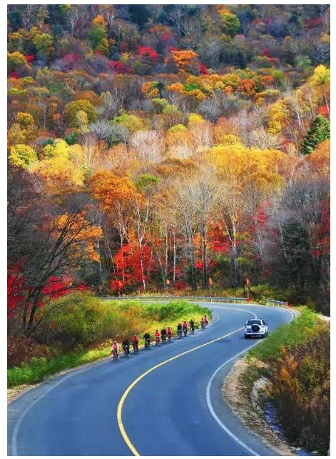 长白山秋季美景。