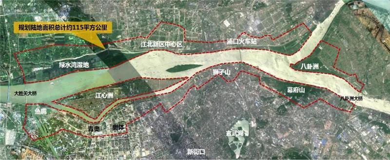 △規劃陸地面積總計約 115 平方公里