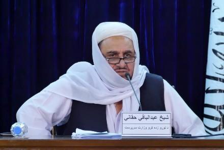 阿富汗高等教育部代理部长阿卜杜勒・巴奇・哈卡尼。