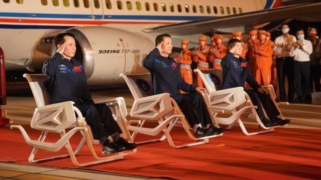 神舟十二号航天员乘组平安抵京 欢迎仪式现场画面曝光