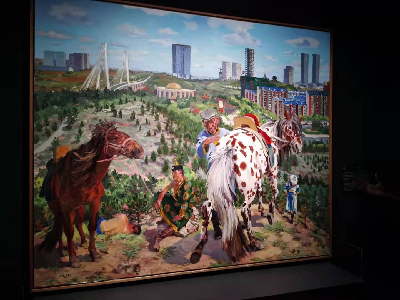 刘小东《空城计2》2015 布面油画 250x300 cm 作品由艺术家提供