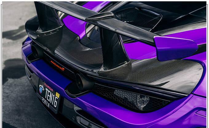 迈凯伦720S全新改装版紫色涂装大量碳纤维配件-图5