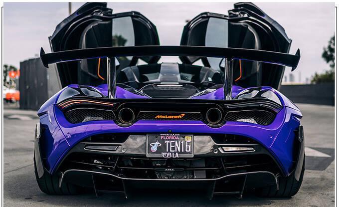 迈凯伦720S全新改装版紫色涂装大量碳纤维配件-图4