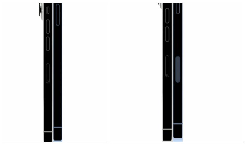 左边是国行 iPhone 13 Pro,右边是美版 iPhone 13 Pro