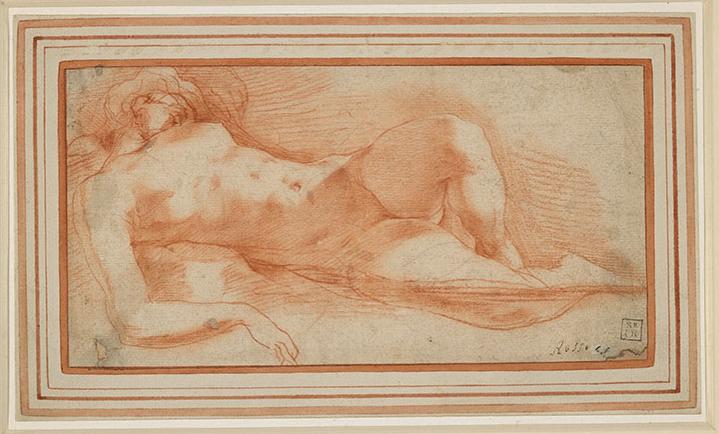罗素·菲伦蒂诺(1494—1540)《睡梦中的裸女》约1530至1540年