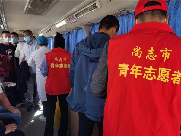"""尚志市开展""""庆国庆、学党史、办实事""""无偿献血志愿服务活动"""